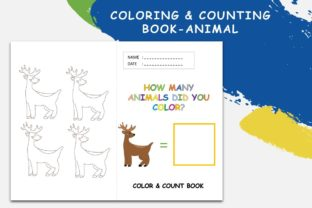 Coloring & Counting Book Animal - Deer Graphic 4th grade By 57creative