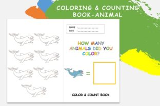 Coloring & Counting Book Animal Dolphint Graphic 4th grade By 57creative