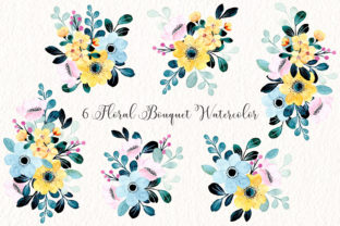Print on Demand: Digital Clipart Floral Watercolor Part32 Graphic Illustrations By asrulaqroni