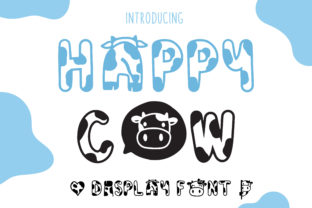 Print on Demand: Happy Cow Display Font By Pila Studio