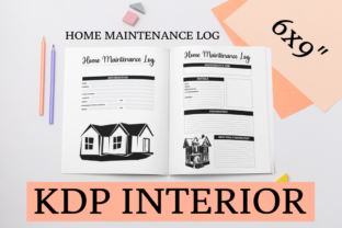 Print on Demand: Home Maintenance Log | KDP Interior Graphic KDP Interiors By KDP Mastermind