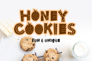 Print on Demand: Honey Cookies Decorative Font By artype07