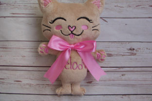 Kitty Stuffie ITH - Cat Softie Cats Embroidery Design By nolimitsdesignPL