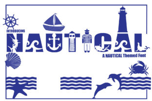 Print on Demand: Nautical Decorative Font By KtwoP
