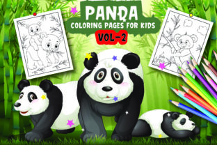Panda Coloring Pages for Kids Vol -2 Graphic Coloring Pages & Books Kids By Moonz Coloring