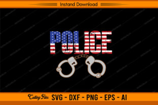 Police American Flag Design Graphic Print Templates By sketchbundle
