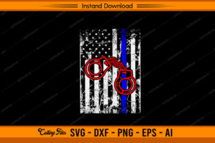 Police Hand-Cap with US Flag Graphic Print Templates By sketchbundle