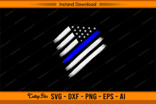 Police US Flag Graphic Print Templates By sketchbundle
