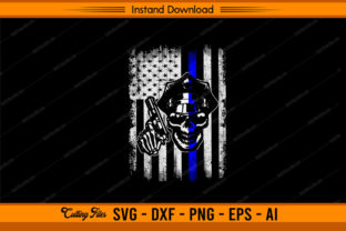 Police with American Flag Graphic Print Templates By sketchbundle