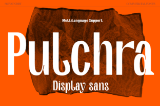 Print on Demand: Pulchra Sans Serif Font By S6 Foundry