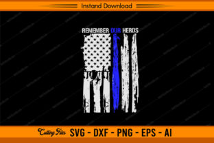 Remember Our Heroes Police Graphic Print Templates By sketchbundle
