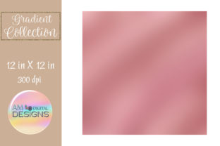 Print on Demand: Rose Gold Ombre Gradient Background Graphic Backgrounds By AM Digital Designs