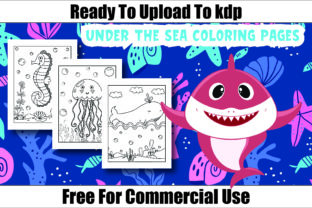 Sea Life Coloring Page for Kids Vol-1 Graphic Coloring Pages & Books Kids By Moonz Coloring
