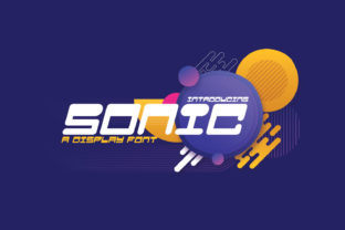 Print on Demand: Sonic Display Font By Line creative 1