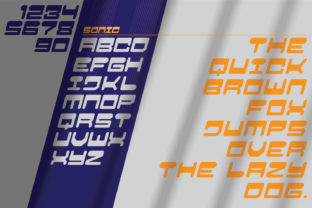 Print on Demand: Sonic Display Font By Line creative 3