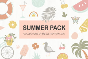 Summer Elements Pack for Canva Graphic Illustrations By switzershop