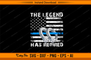 The Legend Has Retired Police Graphic Print Templates By sketchbundle