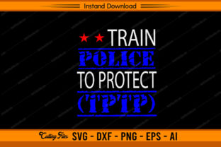 Train Police to Protect TPTP Graphic Print Templates By sketchbundle