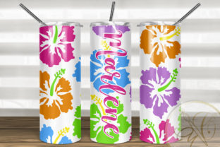 Tropical Skinny Tumbler Sublimation Graphic Print Templates By paperart.bymc