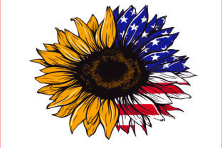 USA Sunflower, Sublimation Graphics Graphic Graphic Templates By AlaBala