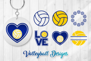 Print on Demand: Volleyball SVG - Volleyball Clipart Graphic Crafts By DTCreativeLab