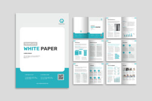 Print on Demand: White Paper Graphic Print Templates By uicreativenet