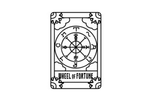 Tattoo Style Wheel of Fortune Tarot Card Designs & Drawings Craft Cut File By Creative Fabrica Crafts