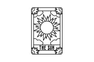 Tattoo Style the Sun Tarot Card Designs & Drawings Craft Cut File By Creative Fabrica Crafts