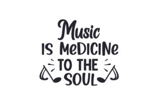 Music is Medicine to the Soul Music Craft Cut File By Creative Fabrica Crafts
