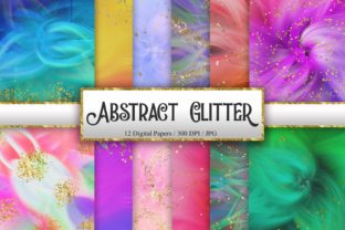 Print on Demand: Abstract Glitter Digital Papers Graphic Backgrounds By PinkPearly