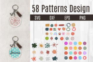Print on Demand: Acrylic Keychain Pattern Background Svg Graphic Crafts By dadan_pm