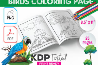 Birds Coloring Page KDP Interior Graphic KDP Interiors By GraphicTech360