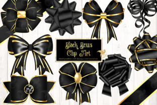 Print on Demand: Black Bows Clipart Graphic Illustrations By Digital Curio