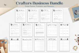 Print on Demand: Crafters Business Planner Bundle Graphic Print Templates By Hustle Smart Shop
