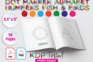 Dot Marker Number Alphabet Fish Birds Graphic KDP Interiors By GraphicTech360