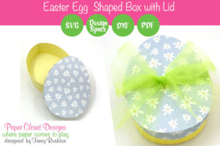 Print on Demand: Easter Egg Shaped Basket Graphic 3D SVG By rushton_tracy