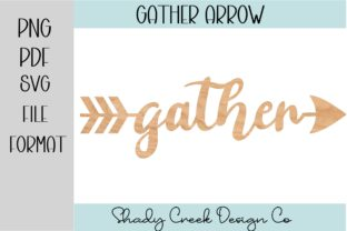 Gather Arrow Laser Cut File Graphic 3D Houses By Shady Creek Design Company