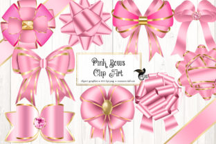 Print on Demand: Pink Bows Clipart Graphic Illustrations By Digital Curio
