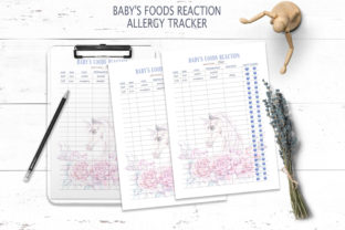 Print on Demand: Printable Baby's Foods Reaction Tracker Graphic Print Templates By Tiana Geo