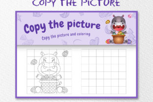 A Cute Hippo Easter 5 - Copy the Picture Graphic 10th grade By wijayariko