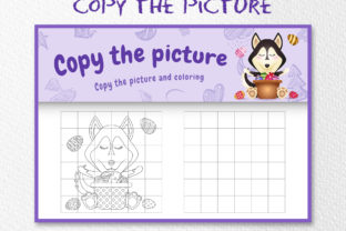 A Cute Husky Easter 5 - Copy the Picture Graphic 10th grade By wijayariko