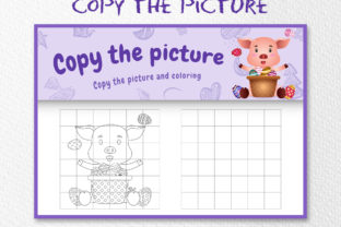 A Cute Pig Easter 5 - Copy the Picture Graphic 10th grade By wijayariko