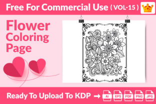 Coloring Page - Flower Coloring Page V15 Graphic Coloring Pages & Books Kids By Md Abu Saeid