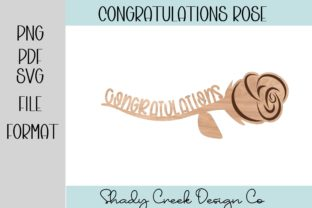 Congratulations Rose Laser Cut File Graphic 3D Houses By Shady Creek Design Company