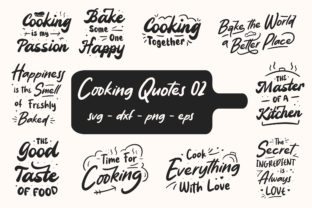 Print on Demand: Cooking Quotes Bundle Graphic Graphic Print Templates By TypeFactory