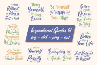 Print on Demand: Inspirational Quotes Bundle Graphic Graphic Print Templates By TypeFactory