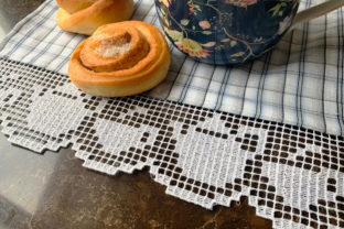 Lace Edging for Kitchen Towels Kitchen & Cooking Embroidery Design By EmbDesigns