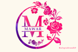 Print on Demand: Mawar Monogram Decorative Font By utopiabrand19