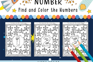 Number Activities: Find the Numbers 1-10 Graphic K By Happy Kiddos