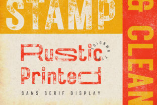 Print on Demand: Rustic Printed Sans Serif Font By Edignwn Type